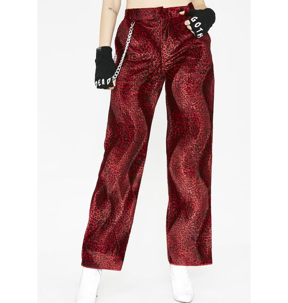 O Mighty Leopard Chain Pants