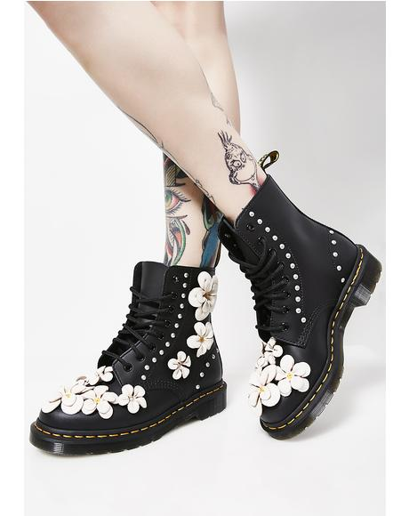 1460 Pascal Flower Boots