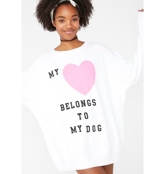 Wildfox Couture My Heart To My Dog Roadtrip Sweater