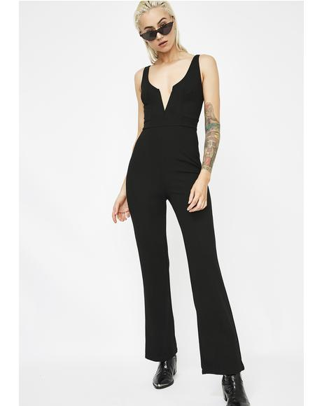 After The Weekend V Cut Jumpsuit