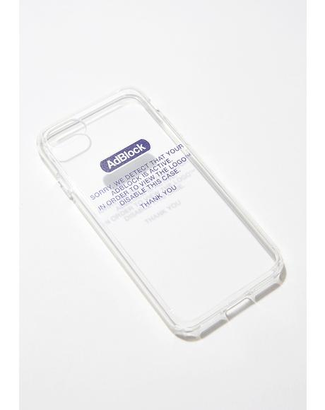 Adblock Blue iPhone Case