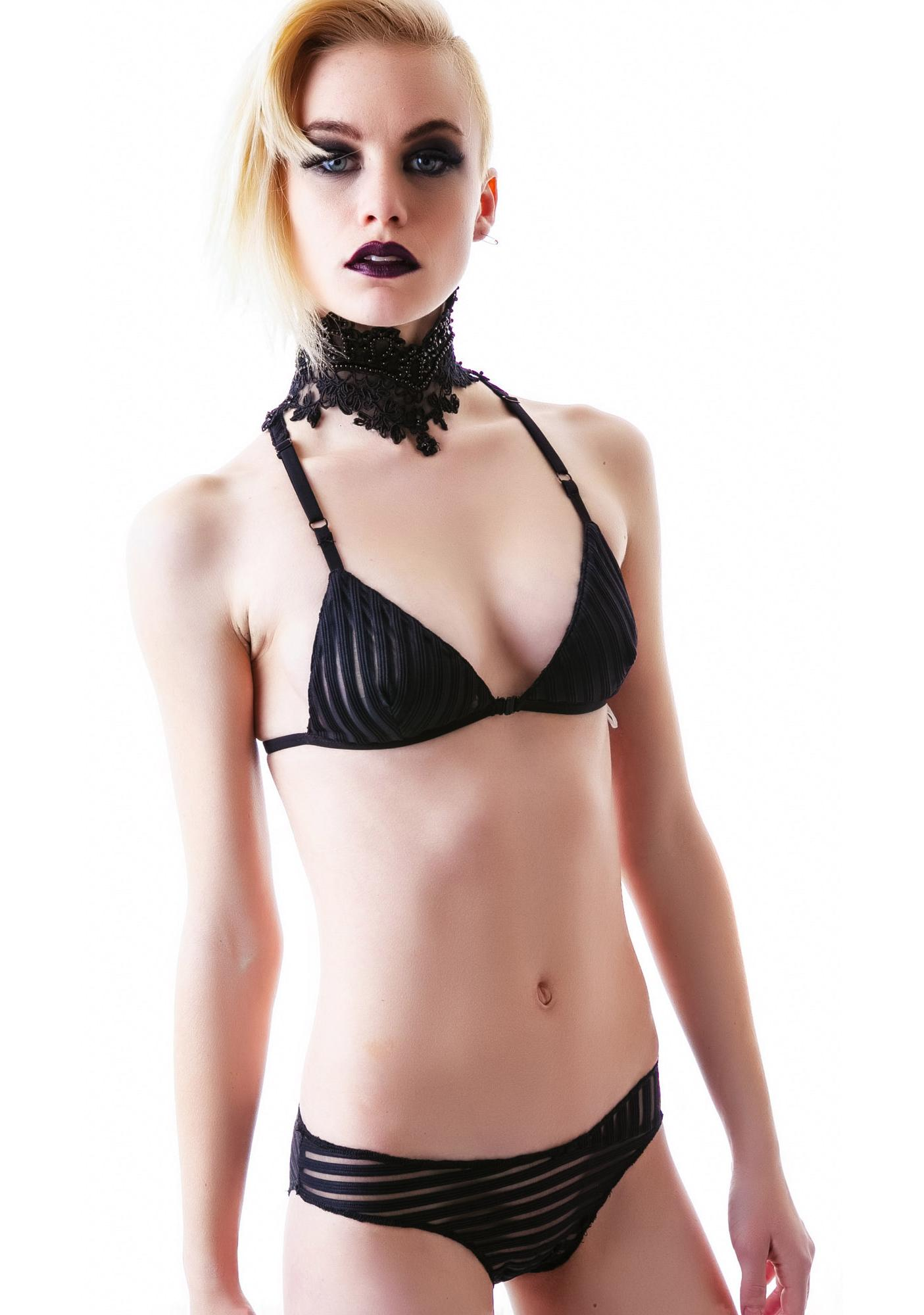 One Teaspoon Black Lion Bralette Set