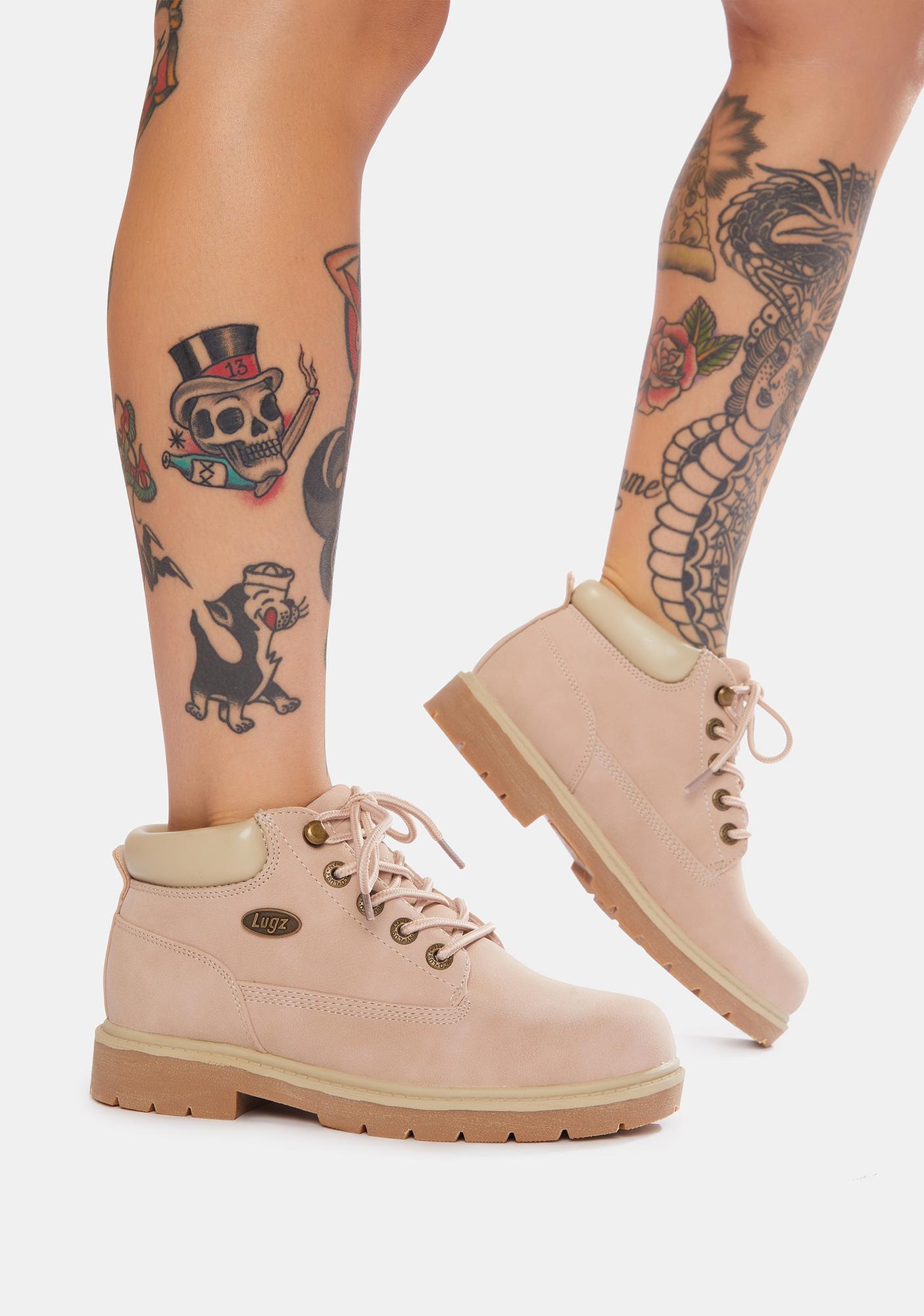 Lugz Soft Pink Drifter LX Chukka Boots