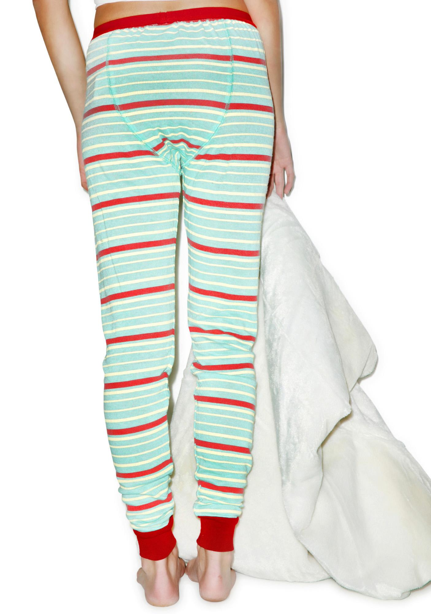 Mink Pink Stripe Off Leggings