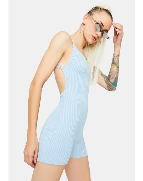 Aqua Look At Me Ribbed Romper
