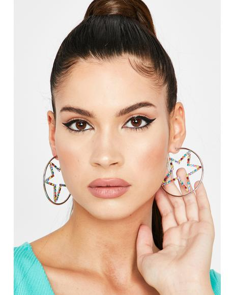 Welcome To Stardom Hoop Earrings