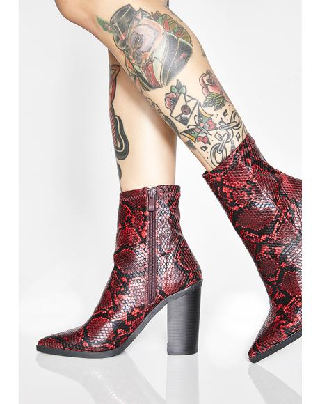 Pretty Poisonous Heeled Boots