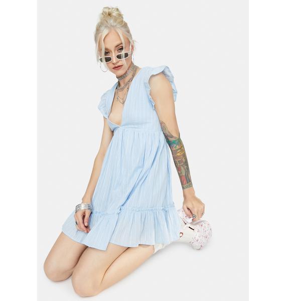 Just For Kicks Ruffle Babydoll Dress