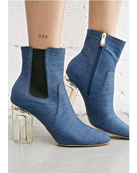 Denim Saturn Boots