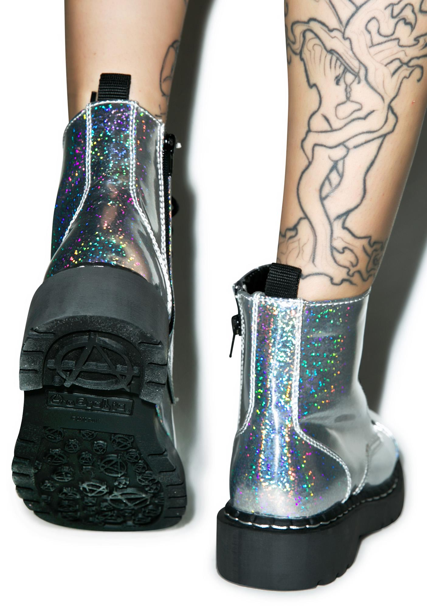 T.U.K. Hologram Anarchic 7 Eye Boots