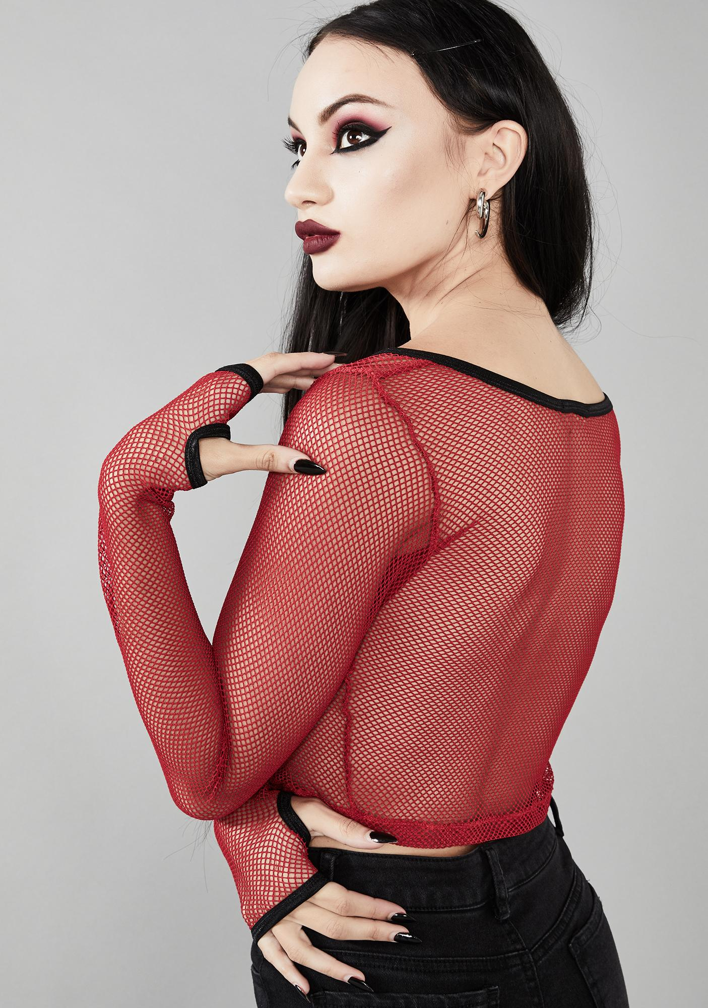 Widow Fatal Attraction Fishnet Top