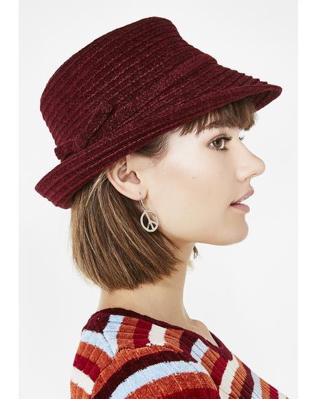 Vintage Maroon 90s Hat