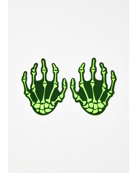 Neon Skeleton Hand Pasties