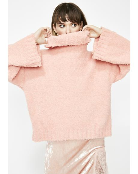 Blushin' Bunny Oversized Sweater