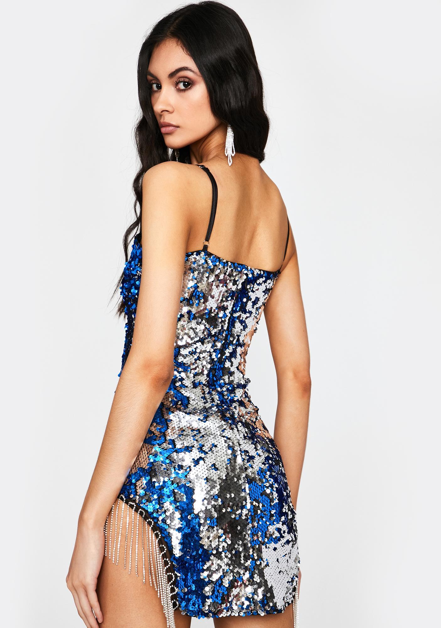 Royal VIP Bottle Service Sequin Dress