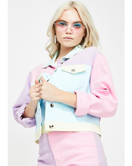 Pretty In Pastel Denim Jacket