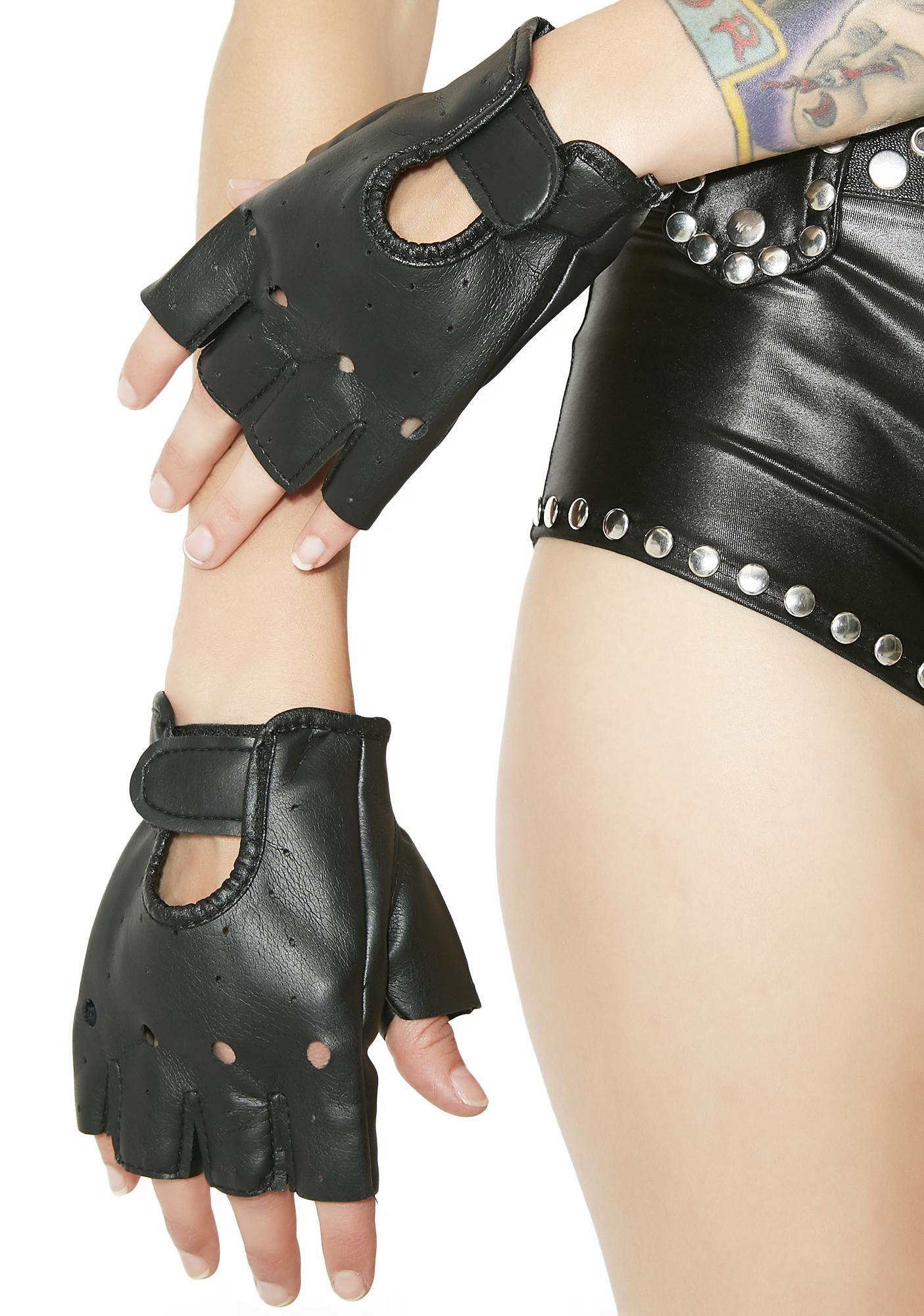 Get A Grip Fingerless Moto Gloves