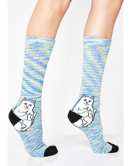 Space Dye Lord Nermal Socks