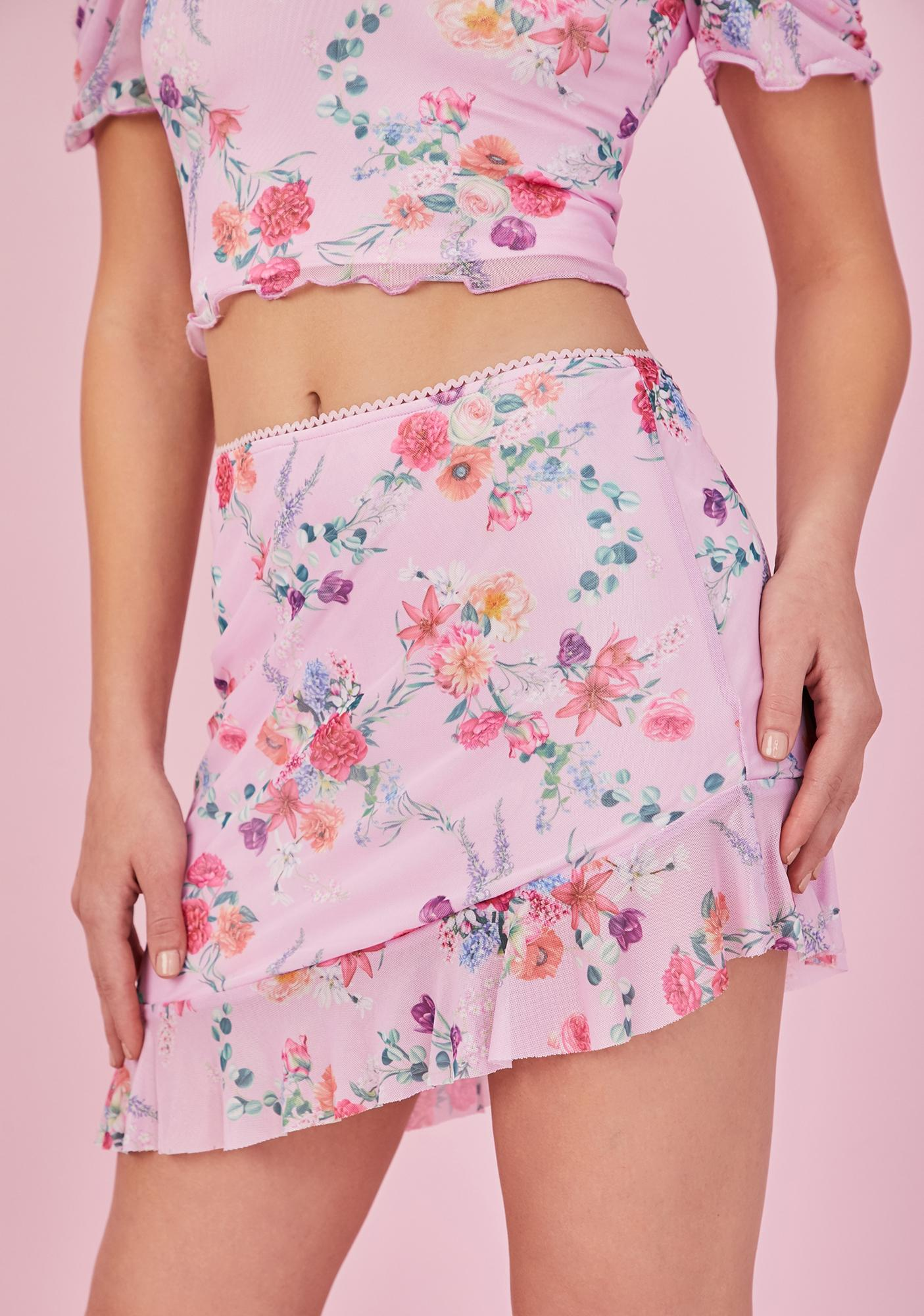 Sugar Thrillz Sweet Tryst Of Fate Mini Skirt