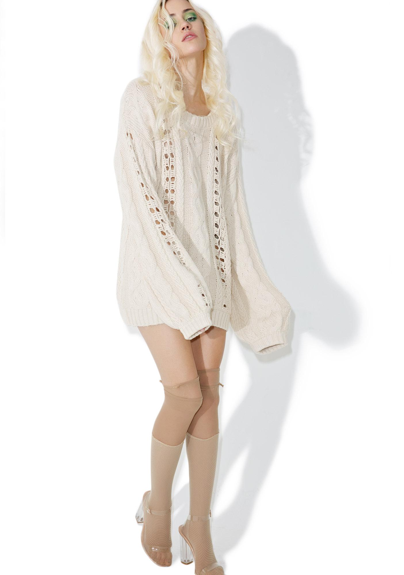 For Love & Lemons Wythe Bell Sleeve Sweater