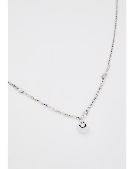 All Smiles Ball Chain Necklace