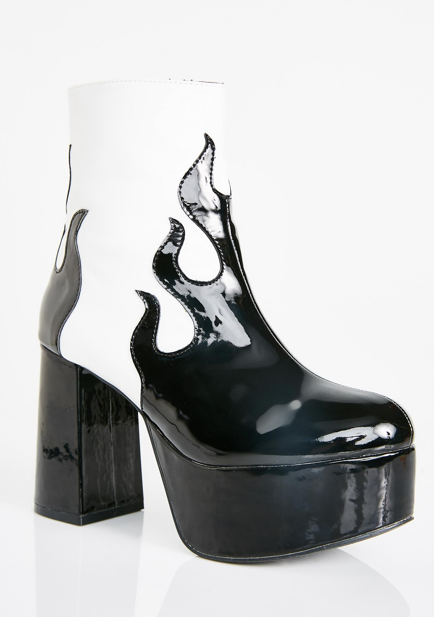 23567c32a744 ... Current Mood Up In Flames Platform Booties ...