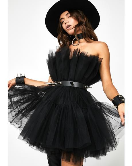 Tragic Top Tier Tease Tulle Dress