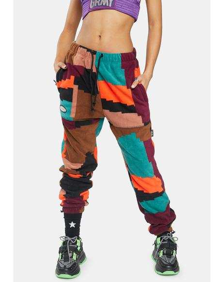 Rainbow Dulce Fleece Polar Pants