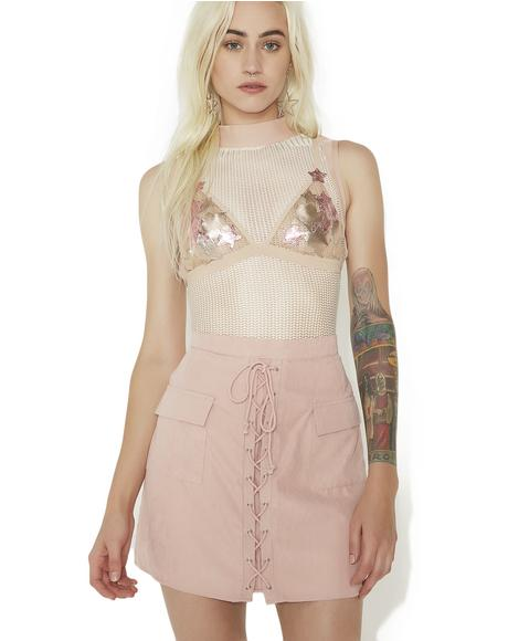 Sassy Sister Lace-Up Skirt