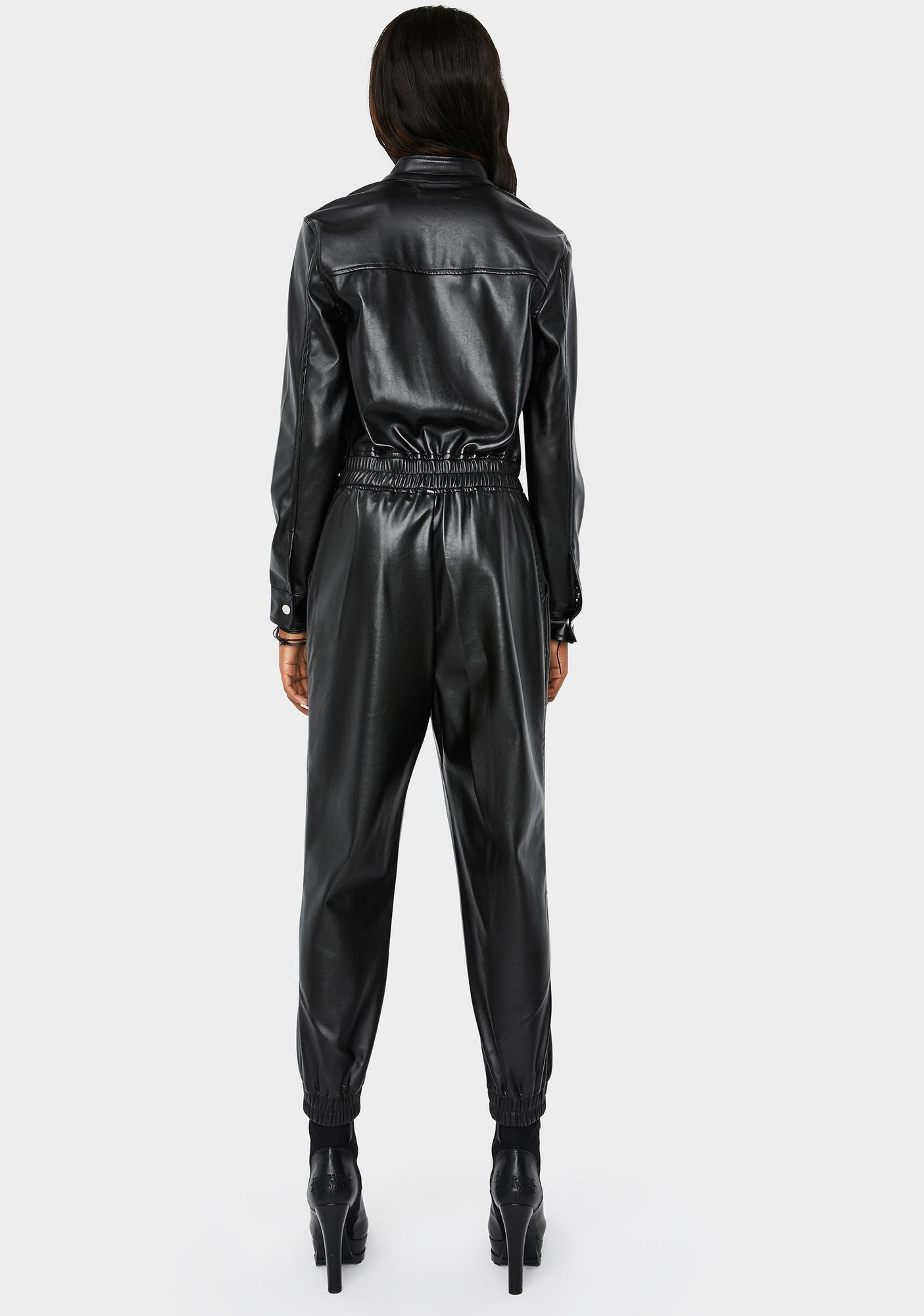 Blank NYC No Guidance Moto Jumpsuit
