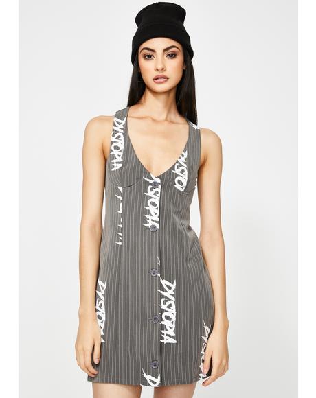 Dystopia Pinstripe Waistcoat Suit Dress