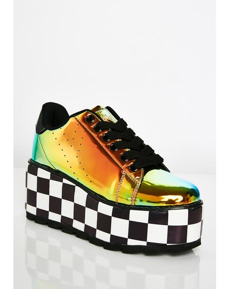 Lala Checker Platform Sneakers