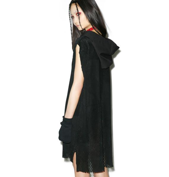Widow Forgive Suede Oversized Hooded Top