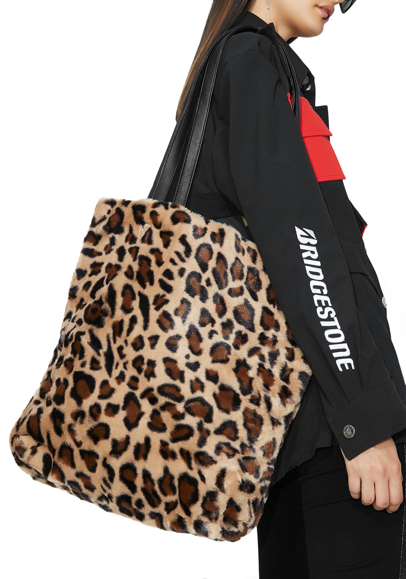 Leopard Printed Faux Fur Bag   Dolls Kill 5cb4983230