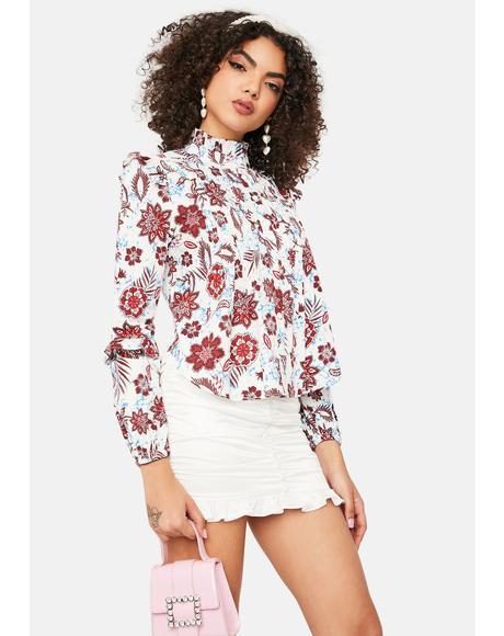 Burgundy Floral Shirt