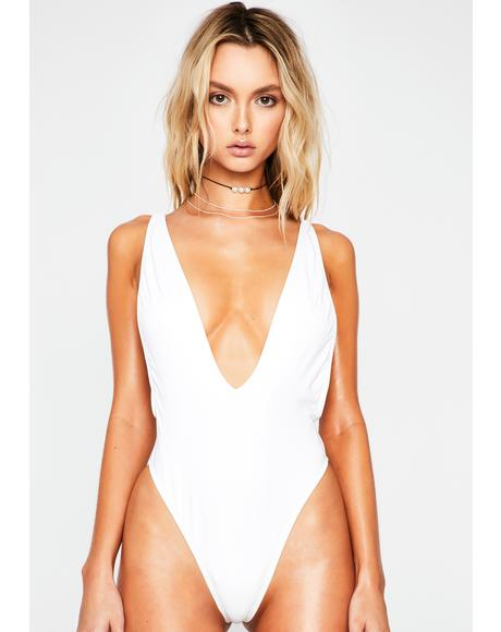 White Euphoria One Piece Swimsuit