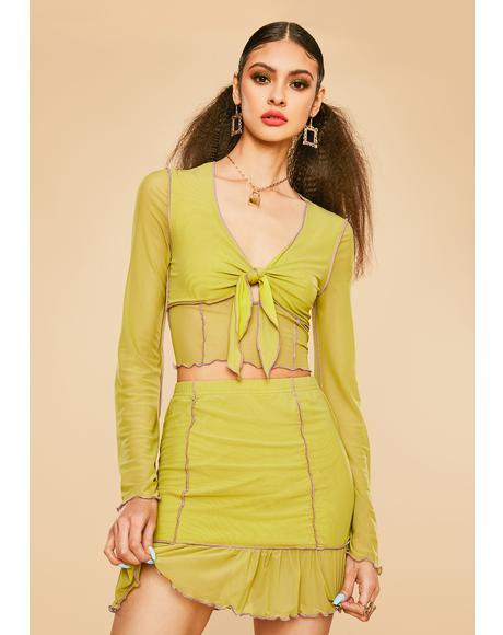 Galleria Girl Mesh Skirt Set