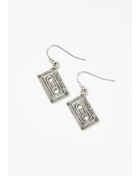 Play My Jam Mixtape Earrings