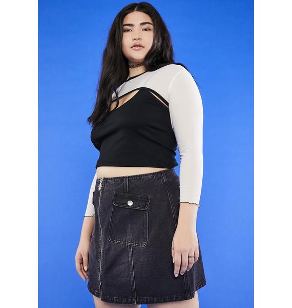 dELiA*s by Dolls Kill BB Are U Afraid Of The Dark Mini Skirt