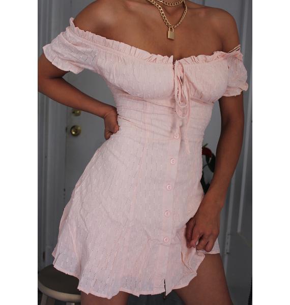 Gotta Crush Off The Shoulder Dress