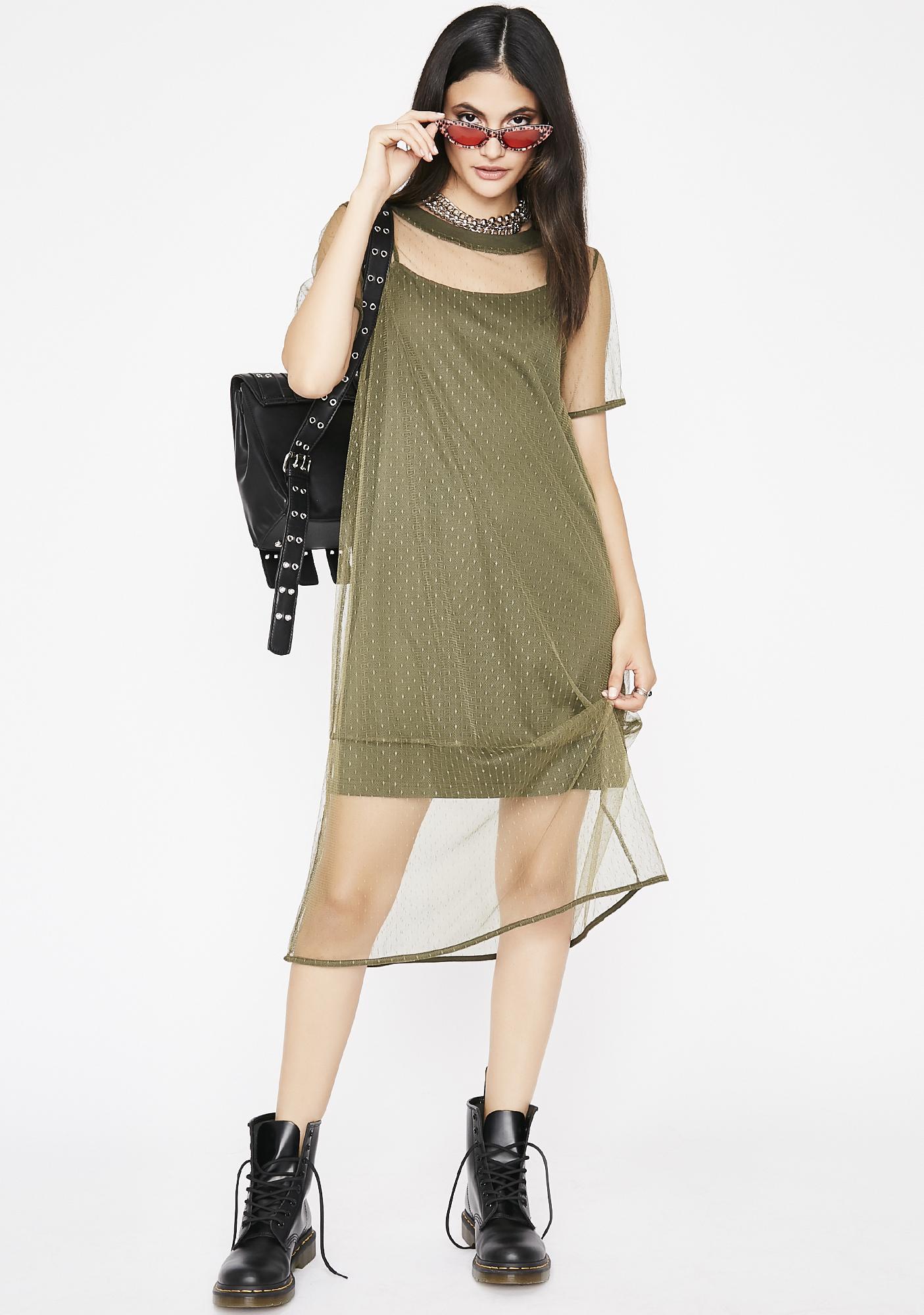 Intentionally Rude Mesh Dress
