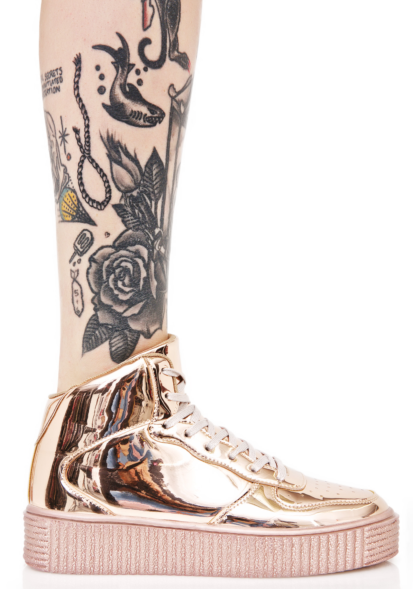 Cyborg Metallic Creeper Sneakers