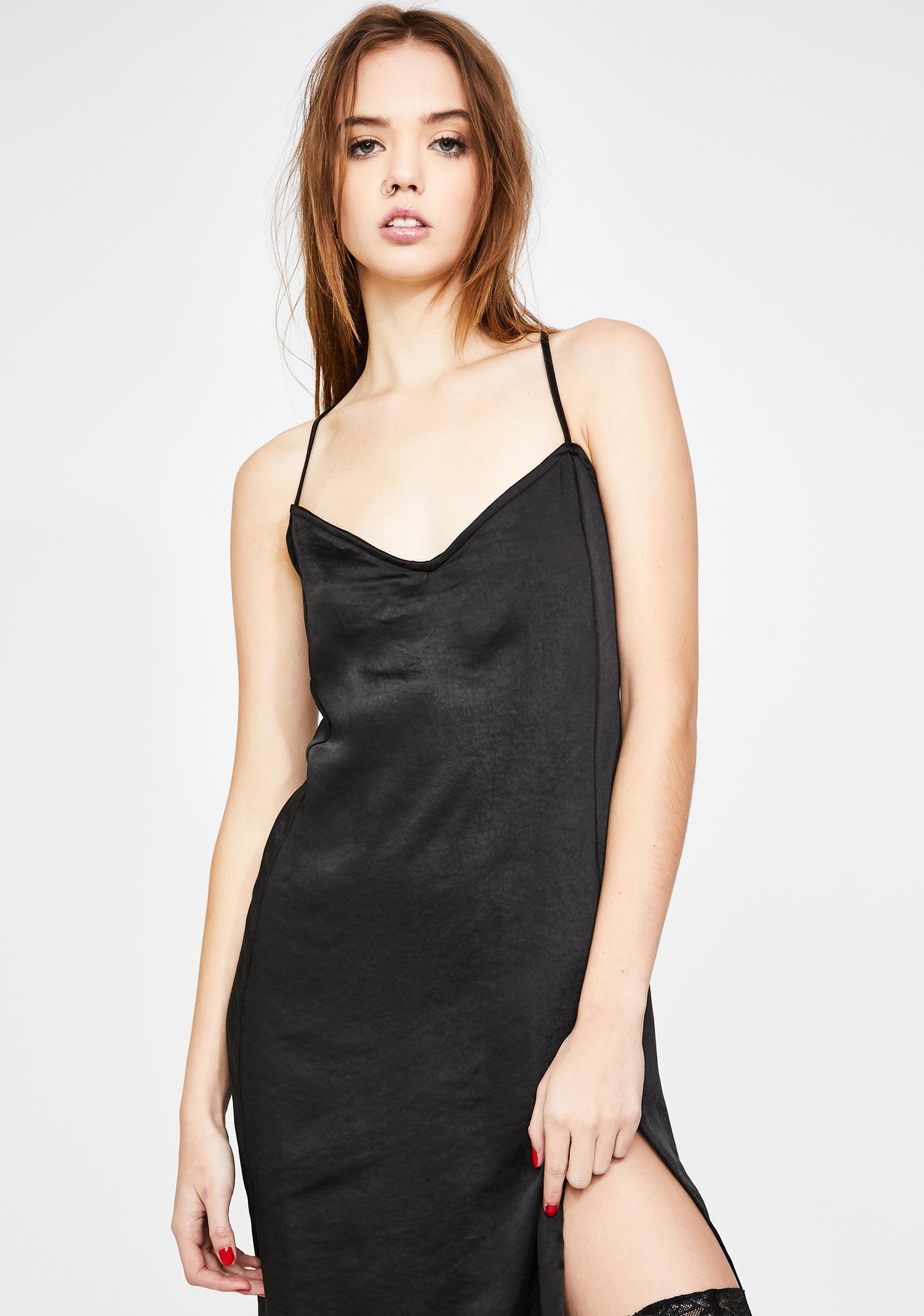 Motel Black Batis Dress