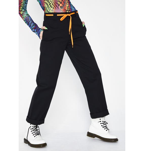 Dickies Girl Work Crop Roll Hem Pants