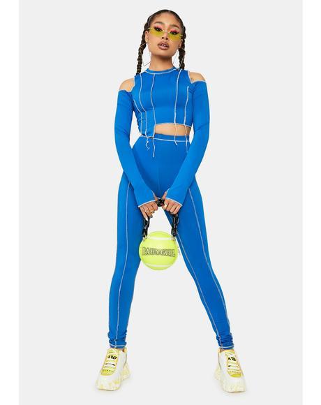 Cobalt Lil Miss Whateva Cold Shoulder Pants Set