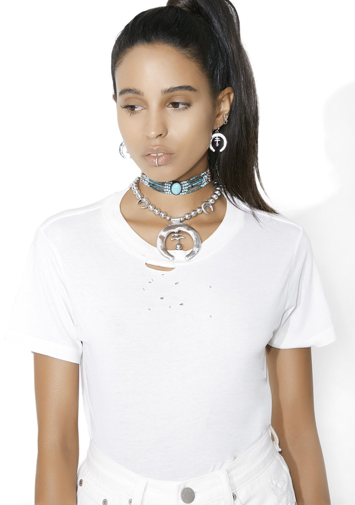 Front N' Center Beaded Choker