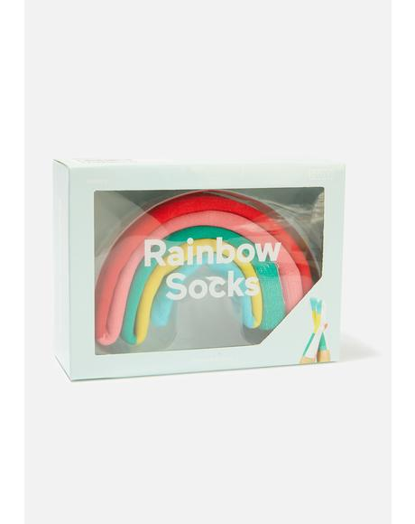Lucky Life Rainbow Socks