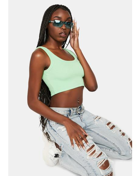 Mint Hottie Declaration Crop Top