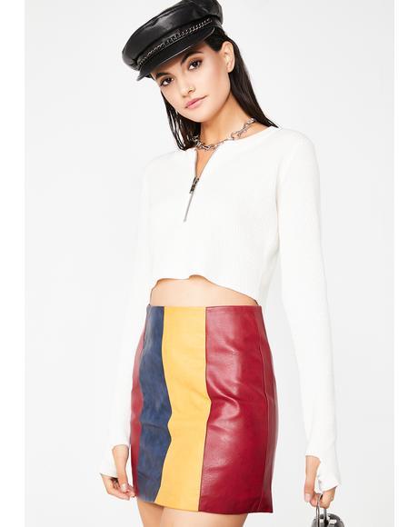 Nothing To Lose Stripe Skirt