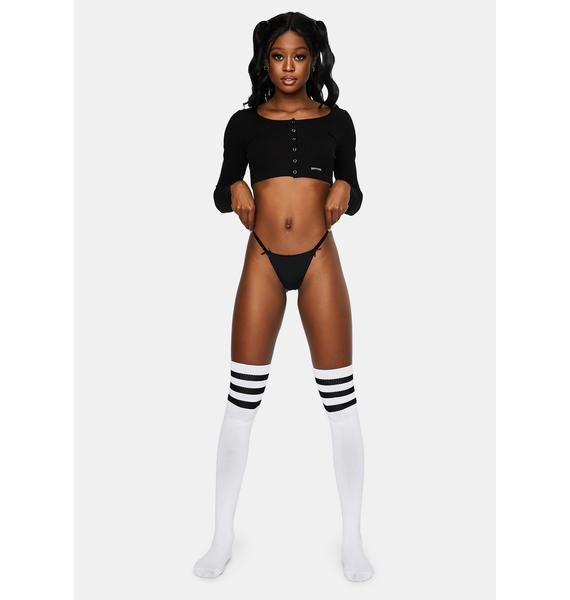 Midnight Can Never Tell Bow Detail Thong
